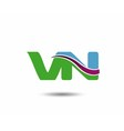 VN logo vector image vector image
