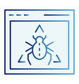 window bug flat icon website virus color icons in vector image vector image
