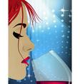 Wine Woman vector image