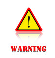 yellow warning dangerous icon background im vector image vector image