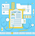 patient card medical vector image