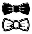 3D bow tie black symbols vector image vector image