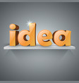 3d idea icon on the shelf vector image