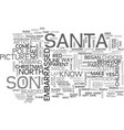 a visit to the north pole text word cloud concept vector image vector image