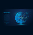 abstract basketball ball from particles vector image vector image