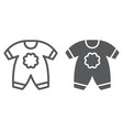 baby clothes line and glyph icon kid and clothing vector image vector image