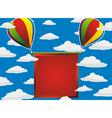 balloons red frame