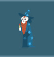 bearded skeleton sorcerer funny dead man cartoon vector image vector image