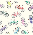 Bicycle seamless pattern white background