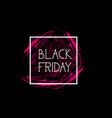 black friday flyer special offer banner holiday vector image vector image