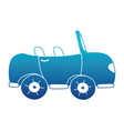 blue silhouette sport car to tranport vehicle vector image