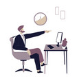 boss in office pointing on door angry director vector image