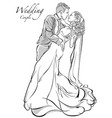 bride and groom couple vector image vector image
