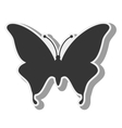 butterfly animal insect wing silhouette vector image