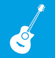 classical guitar icon white vector image vector image