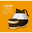 Coffee mug cup kettle pot shop beverage icon vector image vector image