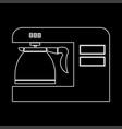 coffeemaker coffee machine white color path icon vector image vector image