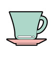 cute cup graphic design vector image vector image