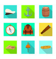 design journey and seafaring icon set vector image vector image