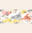 doodle coco pattern hand drawn seamless texture vector image vector image