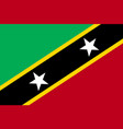 flag saint kitts flat icon vector image vector image