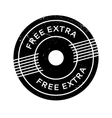 Free Extra rubber stamp vector image vector image
