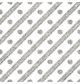 Geometric seamless silver pattern of diagonal vector image vector image