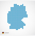 germany map and flag icon vector image