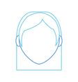 girl head design vector image