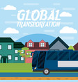 global transportation concept vector image vector image