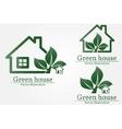 Green house logo Energy saving concept vector image vector image