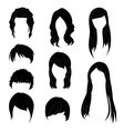 Hairstyle Man and Woman Black vector image vector image
