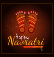 happy navratri element vector image vector image