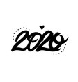 happy new year 2020 lettering vector image