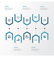 hardware outline icons set collection of storage vector image vector image