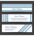 Header or banner design template vector image vector image