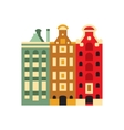 Holandaise Living Buildings Simplified Icon vector image vector image