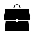 icon backpack schoolbag vector image