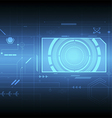 interface technology background vector image vector image