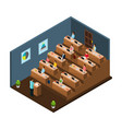 isometric university education concept vector image vector image