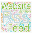 JP rss web site text background wordcloud concept vector image vector image