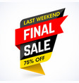 last weekend final sale banner vector image vector image