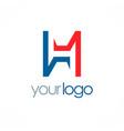 letter h shape color logo vector image vector image