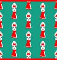 llama head seamless pattern vector image vector image
