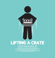 Man Lifting A Crate Symbol vector image vector image