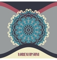 mandala Postcard or Invitation Cover with vector image vector image