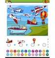 maths activity for kids vector image vector image