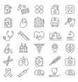 medical care thin line icons vector image