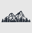 mountains icon isolated on white background vector image