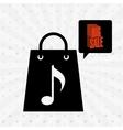 music sale design vector image vector image